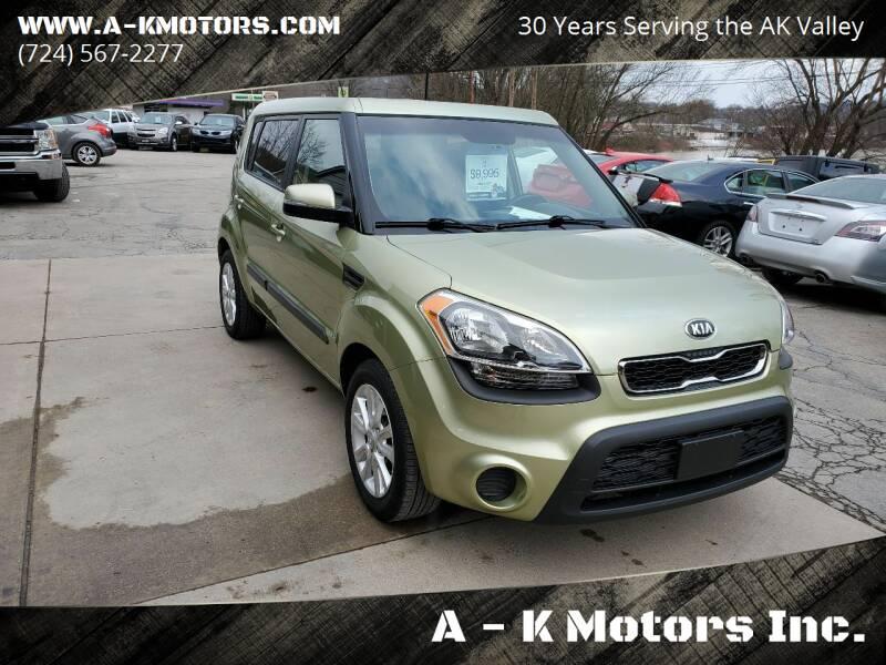 2013 Kia Soul for sale at A - K Motors Inc. in Vandergrift PA