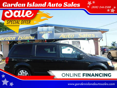 2016 Dodge Grand Caravan for sale at Garden Island Auto Sales in Lihue HI