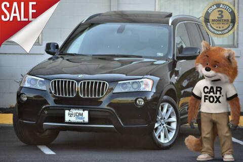 2012 BMW X3 for sale at JDM Auto in Fredericksburg VA