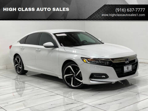 2018 Honda Accord for sale at HIGH CLASS AUTO SALES in Rancho Cordova CA