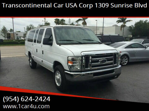2011 Ford E-Series Wagon for sale at Transcontinental Car in Fort Lauderdale FL
