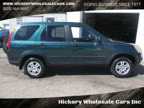 2002 Honda CR-V for sale at Hickory Wholesale Cars Inc in Newton NC