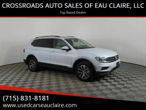 2019 Volkswagen Tiguan for sale at CROSSROADS AUTO SALES OF EAU CLAIRE, LLC in Eau Claire WI