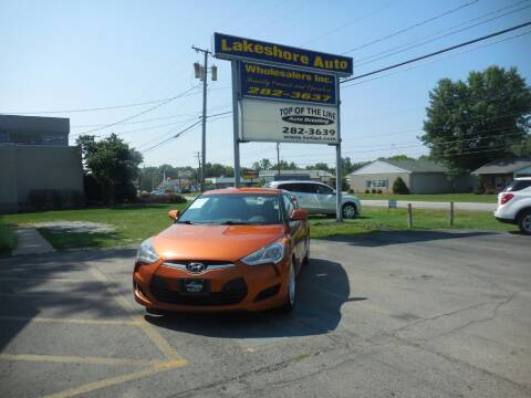 2013 Hyundai Veloster for sale at Lakeshore Auto Wholesalers in Amherst OH