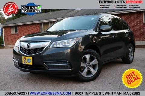 2015 Acura MDX for sale at Auto Sales Express in Whitman MA