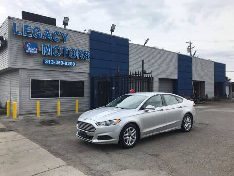 2015 Ford Fusion for sale at Legacy Motors in Detroit MI