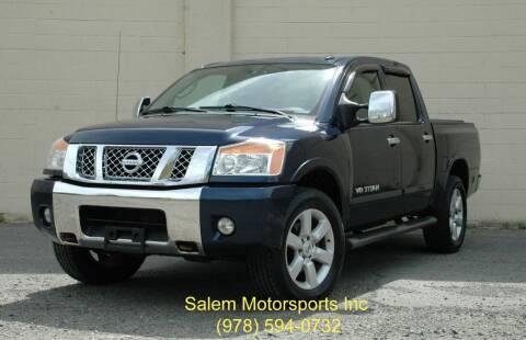 2011 Nissan Titan for sale at Salem Motorsports in Salem MA