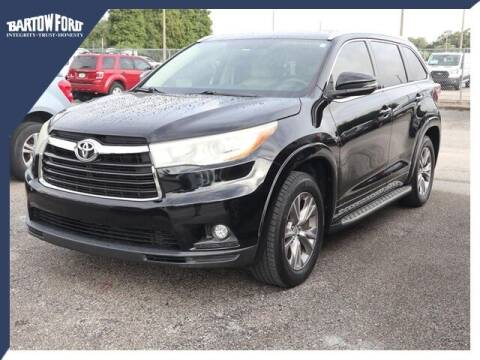 2015 Toyota Highlander for sale at BARTOW FORD CO. in Bartow FL