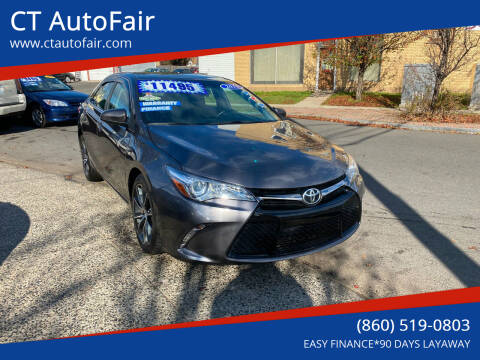 2015 Toyota Camry for sale at CT AutoFair in West Hartford CT