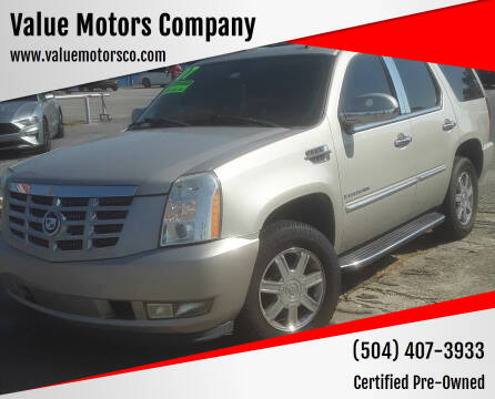 2007 Cadillac Escalade for sale at Value Motors Company in Marrero LA
