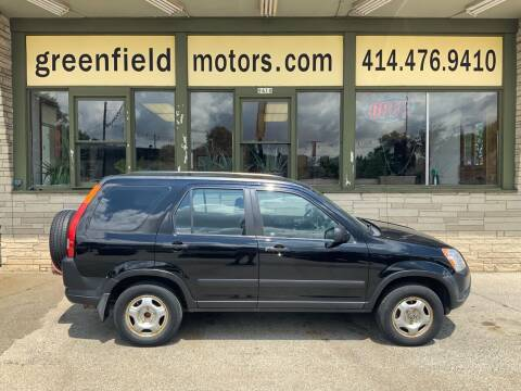 2003 Honda CR-V for sale at GREENFIELD MOTORS in Milwaukee WI