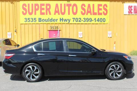 2017 Honda Accord for sale at Super Auto Sales in Las Vegas NV