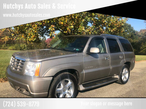 2002 Cadillac Escalade for sale at Hutchys Auto Sales & Service in Loyalhanna PA