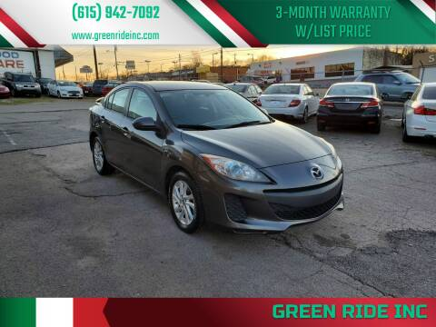 2013 Mazda MAZDA3 for sale at Green Ride Inc in Nashville TN
