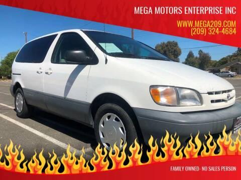 1999 Toyota Sienna for sale at MEGA MOTORS ENTERPRISE INC in Modesto CA