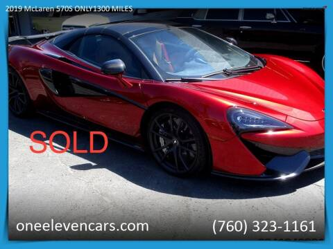 2019 McLaren 570S Spider for sale at One Eleven Vintage Cars in Palm Springs CA