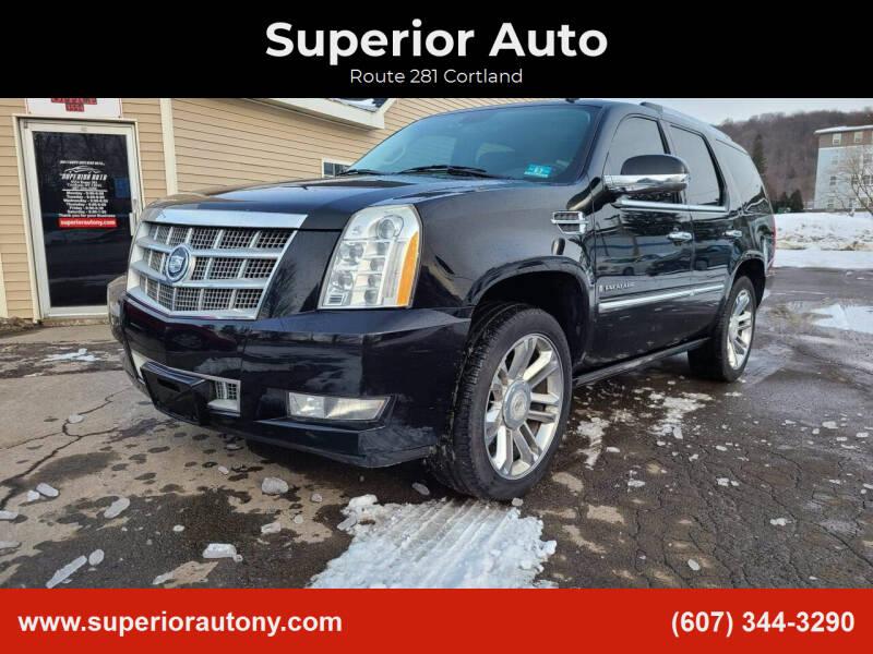 2009 Cadillac Escalade for sale at Superior Auto in Cortland NY