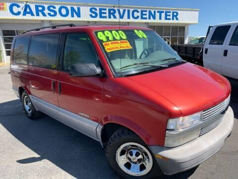2000 Chevrolet Astro for sale at Carson Servicenter in Carson City NV