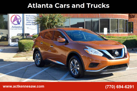 2016 Nissan Murano for sale at Atlanta Cars and Trucks in Kennesaw GA