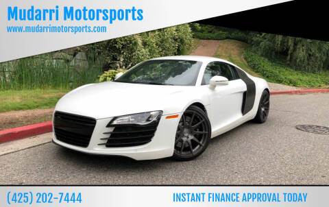 2008 Audi R8 for sale at Mudarri Motorsports in Kirkland WA