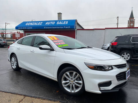 2017 Chevrolet Malibu for sale at Gonzalez Auto Sales in Joliet IL
