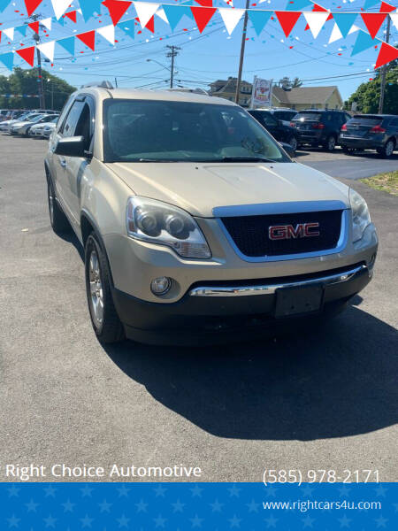 2012 GMC Acadia for sale at Right Choice Automotive in Rochester NY