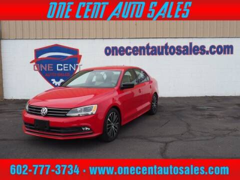 2016 Volkswagen Jetta for sale at One Cent Auto Sales in Glendale AZ