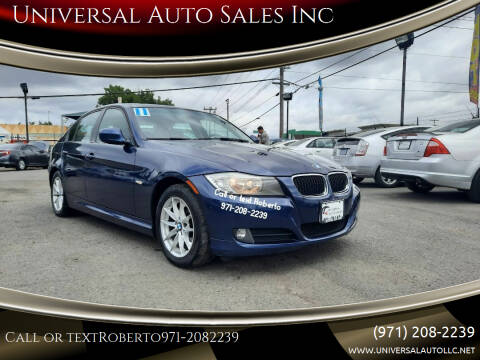 2011 BMW 3 Series for sale at Universal Auto Sales Inc in Salem OR