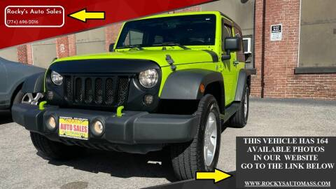 2013 Jeep Wrangler for sale at Rocky's Auto Sales in Worcester MA
