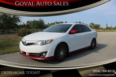 2014 Toyota Camry for sale at Goval Auto Sales in Pompano Beach FL