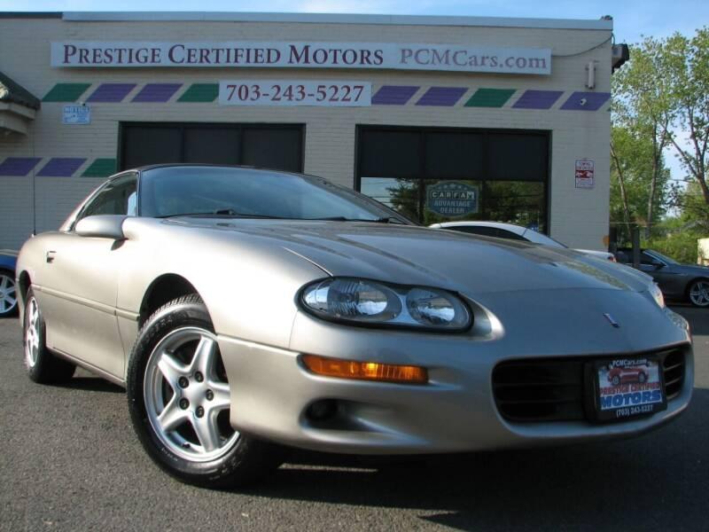 1999 Chevrolet Camaro for sale at Prestige Certified Motors in Falls Church VA