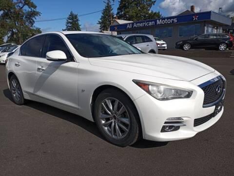 2014 Infiniti Q50 for sale at All American Motors in Tacoma WA
