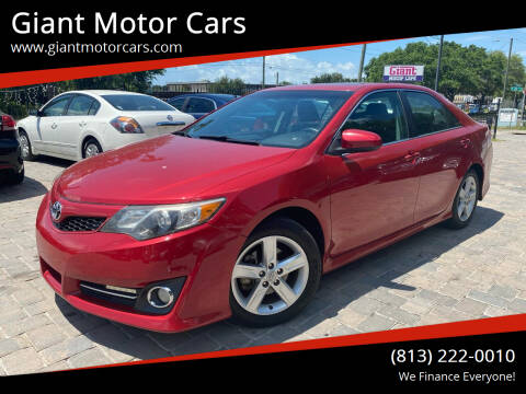 2013 Toyota Camry for sale at Giant Motor Cars in Tampa FL