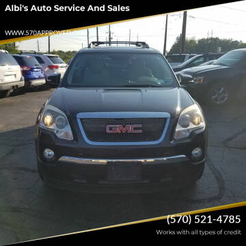 2011 GMC Acadia for sale at Albi's Auto Service and Sales in Archbald PA
