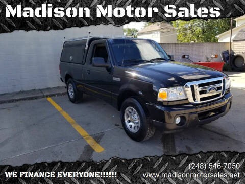 2010 Ford Ranger for sale at Madison Motor Sales in Madison Heights MI
