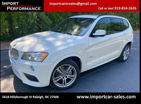 2013 BMW X3 for sale at Import Performance Sales in Raleigh NC