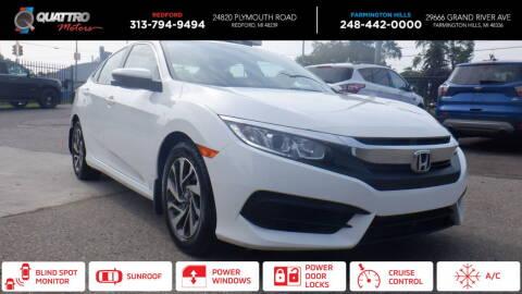 2018 Honda Civic for sale at Quattro Motors 2 - 1 in Redford MI