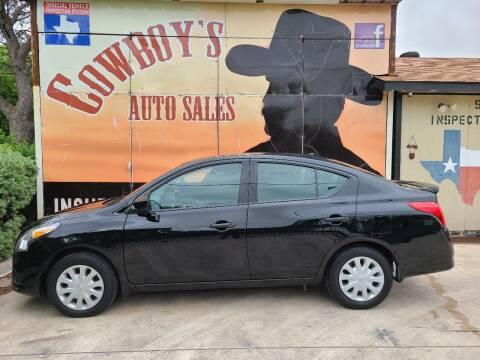 2019 Nissan Versa for sale at Cowboy's Auto Sales in San Antonio TX