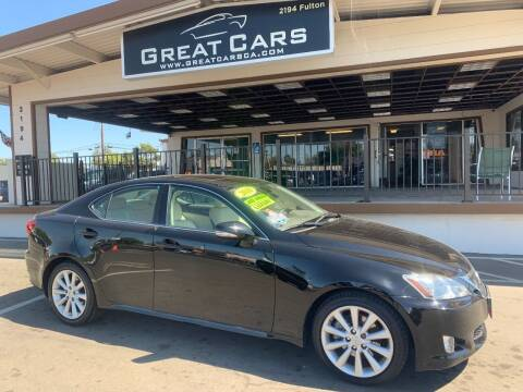 2010 Lexus IS 250 for sale at Great Cars in Sacramento CA