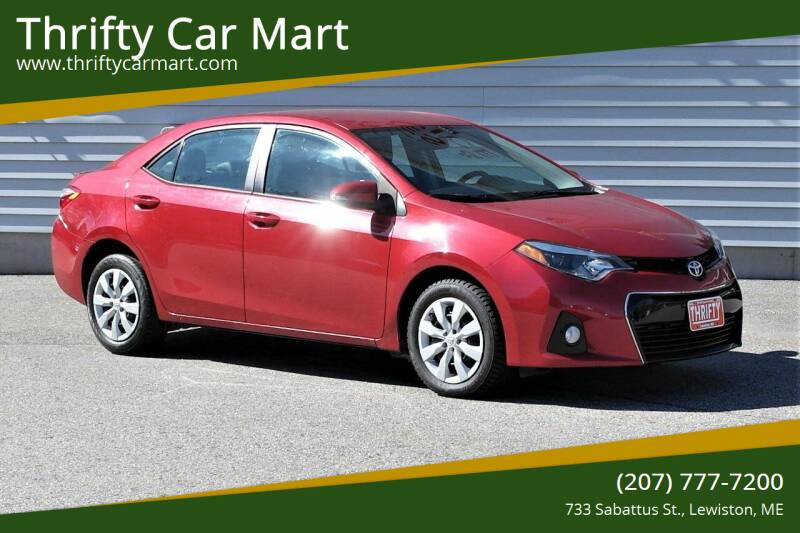 2016 Toyota Corolla for sale at Thrifty Car Mart in Lewiston ME