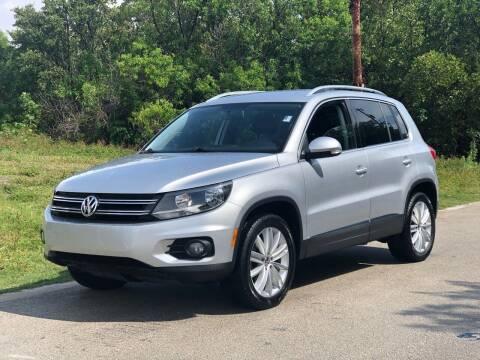 2014 Volkswagen Tiguan for sale at L G AUTO SALES in Boynton Beach FL