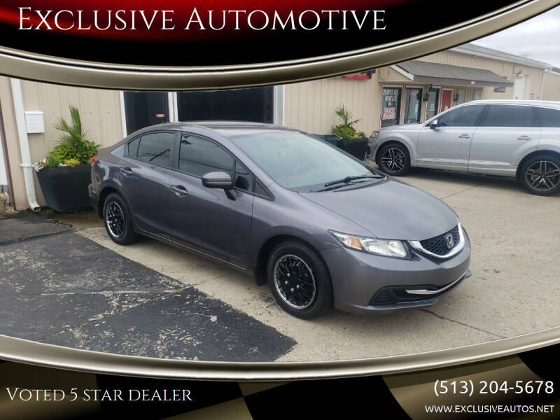 2014 Honda Civic for sale at Exclusive Automotive in West Chester OH
