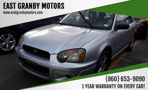 2005 Subaru Impreza for sale at EAST GRANBY MOTORS in East Granby CT