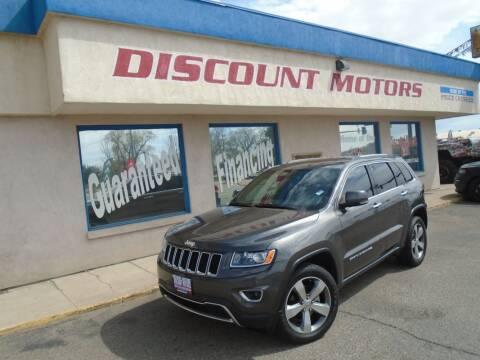 2014 Jeep Grand Cherokee for sale at Discount Motors in Pueblo CO