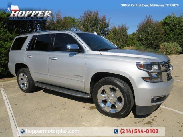 2016 Chevrolet Tahoe for sale at HOPPER MOTORPLEX in Mckinney TX