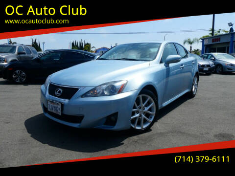 2012 Lexus IS 250 for sale at OC Auto Club in Midway City CA