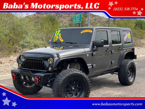 2017 Jeep Wrangler Unlimited for sale at Baba's Motorsports, LLC in Phoenix AZ