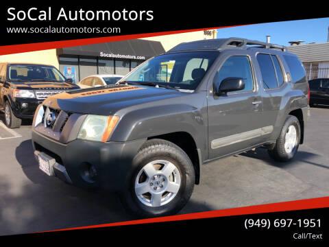 2006 Nissan Xterra for sale at SoCal Automotors in Costa Mesa CA