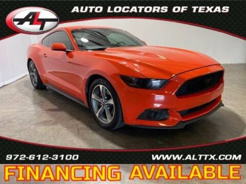 2015 Ford Mustang for sale at AUTO LOCATORS OF TEXAS in Plano TX