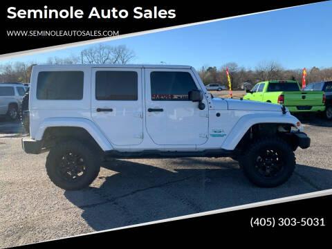 2016 Jeep Wrangler Unlimited for sale at Seminole Auto Sales in Seminole OK